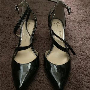 Jessica Simpson ankle strap heels